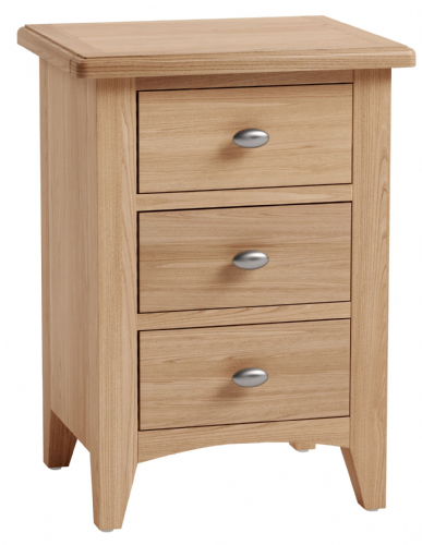 Greenwich Light Oak Large Bedside Cabinet